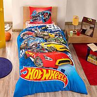 Детское подростковое постельное белье TAC Disney Hot Wheels Ранфорс