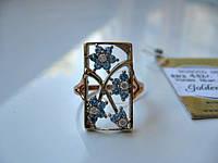 Золотое кольцо с ТОПАЗАМИ 4.82 грамма 17.5 размер ЗОЛОТО 585 пробы, фото 1