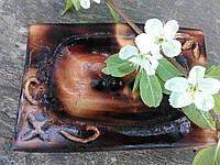 Мыльница деревянная обожженная авторская работа, фото 1