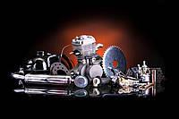 Двигатель на велосипед в сборе со стартером 80 сс