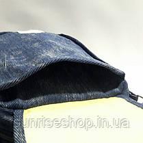 Сумка подросток котон длинная регулируемая ручка цвет синий, фото 3