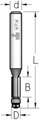 Фреза  обгонная с нижним подшипником WPW, D = 4,8 мм; В = 11 мм; хвостовик = 6 мм.
