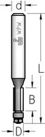 Фреза  обгонная с нижним подшипником WPW, D = 6,3 мм; В = 25 мм; хвостовик = 8 мм.