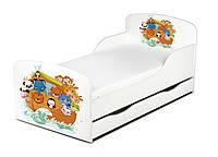 Кроватка ARKA с ящиком и матрасом 140*70