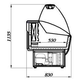 Морозильная витрина Полюс ВХСн-1,2 Эко, фото 2