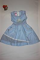 Платье для девочки голубое,летнее.