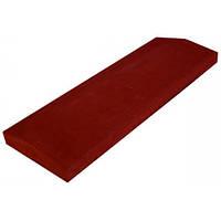 Бетонная парапетная плита LAND BRICK красная 360х680 мм