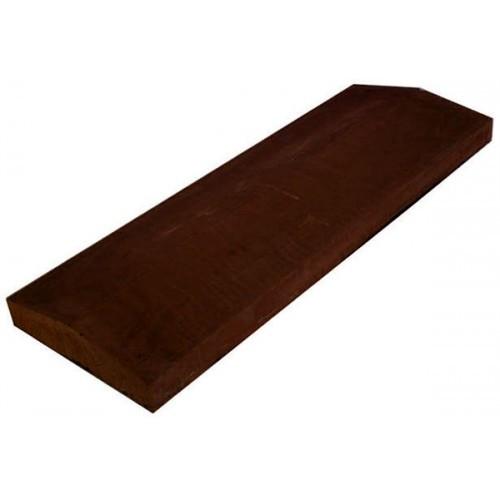 Бетонная парапетная плита LAND BRICK коричневая 210х1000 мм