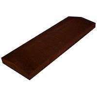 Бетонная парапетная плита LAND BRICK коричневая 360х680 мм