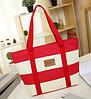 Пляжная сумка женская (красный)
