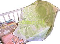 Теплое байковое одеяло 100% хлопок, салатовое