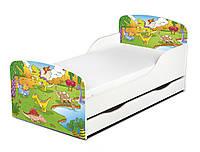 Кроватка Dino с ящиком и матрасом 140*70
