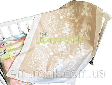 Теплое байковое одеяло 100% хлопок, бежевое