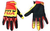 Кроссовые перчатки текстильные FOX
