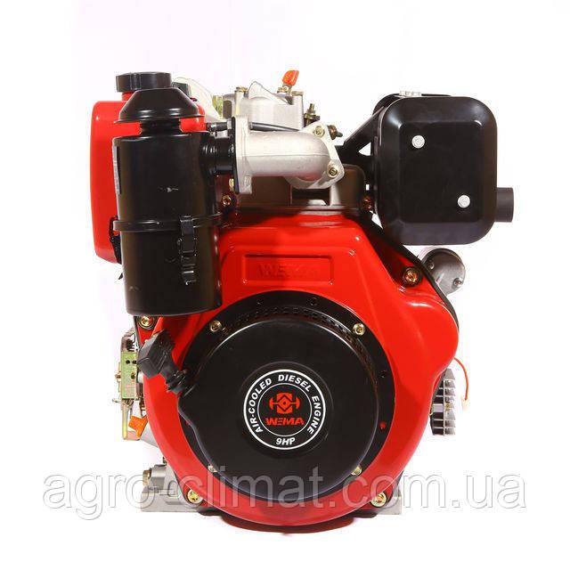 Двигатель Weima дизельный WM186FВЕ 9.5л.с., эл.старт. (вал под шлицы/шпонку, для мотоблока WM1100ВЕ)