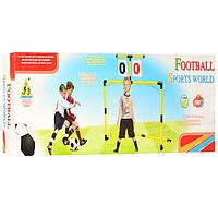 Футбольные ворота M 2878  пластик,120-48-112см, счет,мяч16см ПВХ надув,в кор-ке,63,5-22-5,5см