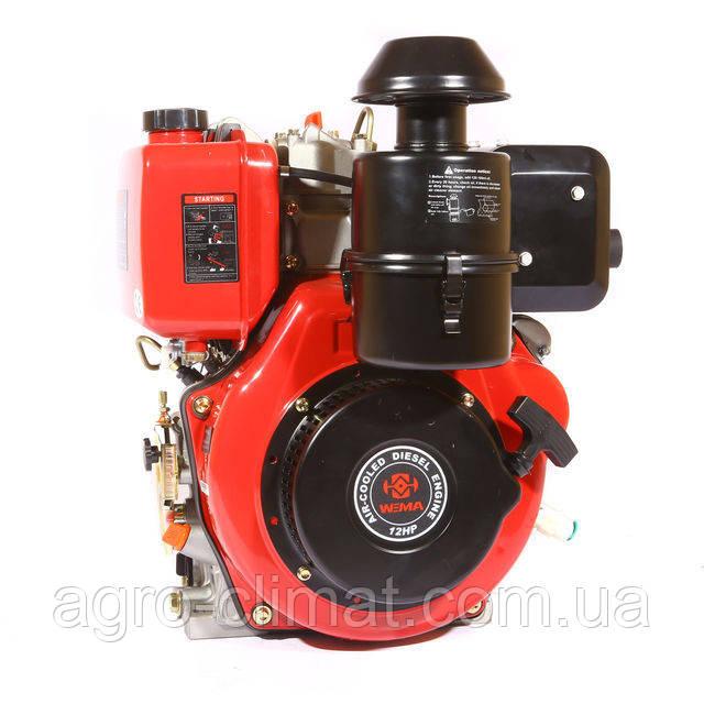 Двигатель дизельный Weima WM188FВЕS (1800 об/мин, шпонка, дизель 12 л.с. эл.старт, редуктор)