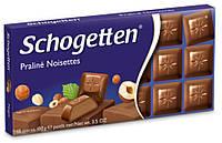 Шоколад Schogetten Praline Noisettes - Молочный шоколад с ореховым пралине 100г