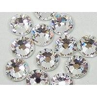 Стразы для маникюра камни для ногтей стекло белые ss4 (аналог сваровски) 100 шт.