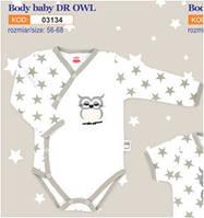 Боди детское польское для девочки мальчика новорожденных младенцев детей пижама человечек Makoma 03134