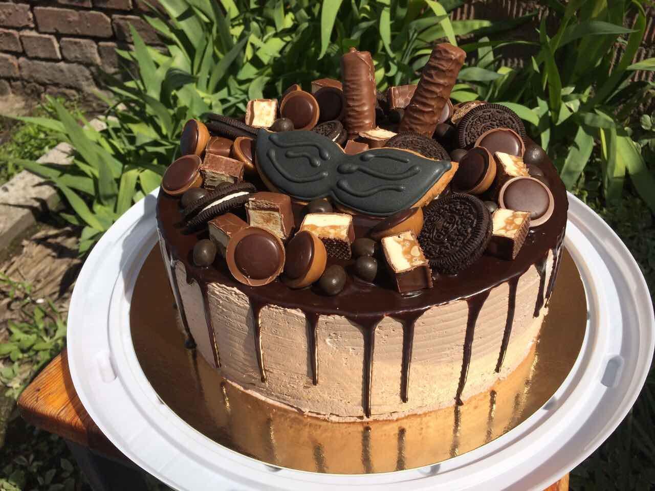 Торт на заказ в стиле Рустик