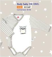 Боди детское польское для девочки мальчика новорожденных младенцев детей пижама человечек Makoma 03134P