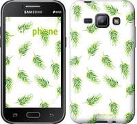 """Чехол на Samsung Galaxy J1 J100H Пальмовые ветки """"3581c-104"""""""