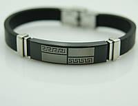 149 Стоящие подарки для мужчин- Мужской браслет из каучука и стали.