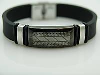 151 Стоящие подарки мужчине- Мужской браслет из каучука и стали.