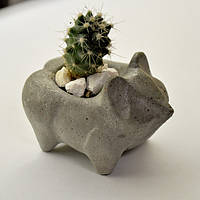 Бетонная ваза «Ёжик» mini