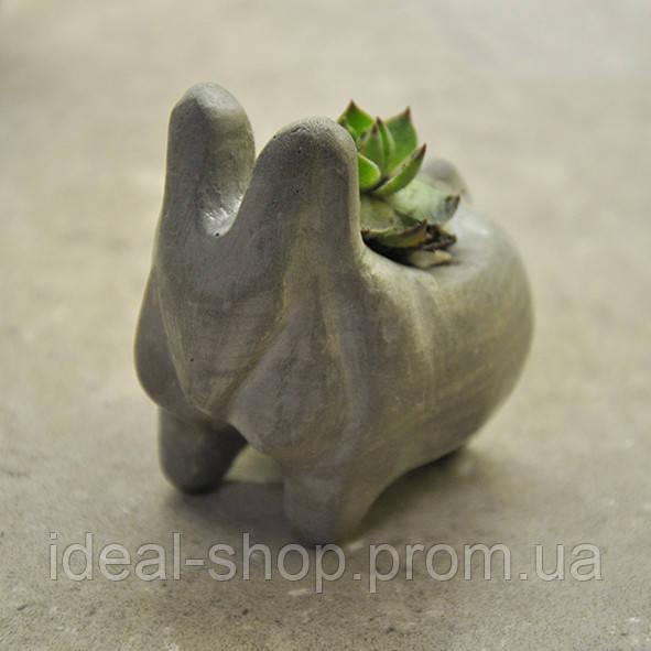 Бетонная ваза «Зайчик» mini