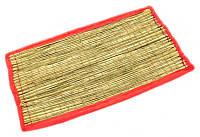 "Циновка для медитации из травы Куша ""Kusha Asan"" с розовым кантом (63х38х1 см)"