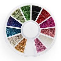 Набір бульйонки для нігтів в карусельці кольорові