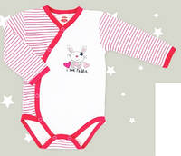 Боди детское польское для девочки мальчика новорожденных младенцев детей пижама человечек Makoma 13135
