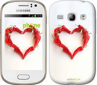 """Чехол на Samsung Galaxy Fame S6810 Любовь с перцем """"730u-254"""""""