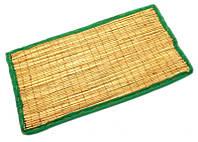 "Циновка для медитации из травы Куша ""Kusha Asan"" с зеленым кантом (63х38х1 см)"