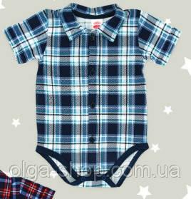 Боди детское польское для мальчика новорожденных младенцев детей пижама человечек Makoma 0304KR