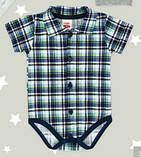 Боди детское польское для мальчика новорожденных младенцев детей пижама человечек Makoma 0304KR, фото 2