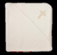 Полотенце для крещения с уголком, Крыжма интерлок молочный