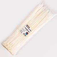 Стяжки пластиковые CarLife 7,6 x 400 белые