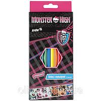 """Карандаши цветные Kite """"Monster high"""" 12 цветов"""
