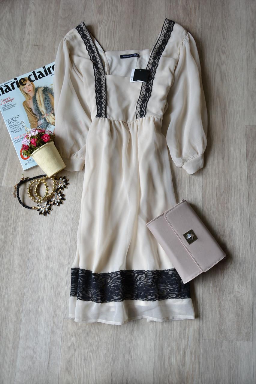 3d5baafda00 Новое шифоновое платье с цельнокроеным рукавом и кружевом Atmosphere ...