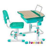 Комплект FunDesk Парта и стул-трансформеры Capri Green