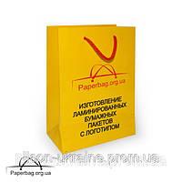 Бумажный пакет ламинированный 220*100*300 мм