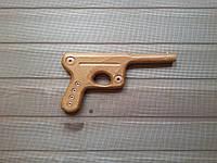 Пистолет игрушечный из дерева для детей 21 см