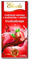 "Шоколад Etiuda Truskawkowa ""Milk Chocolate With Srawberry Filling"" (Полунична) - 100 г."
