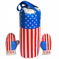 """Боксерский набор маленький """"Америка"""" с перчатками"""
