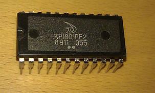 КР1801РЕ2 базовый матричный кристалл (БМК), содержащий 2000 вентилей.