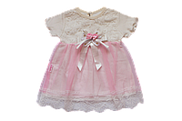 Нарядное платье для девочки на крещение 56/62, 62/68, 68/74 см Турция