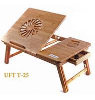 Бамбуковый столик для ноутбука NT25, фото 1